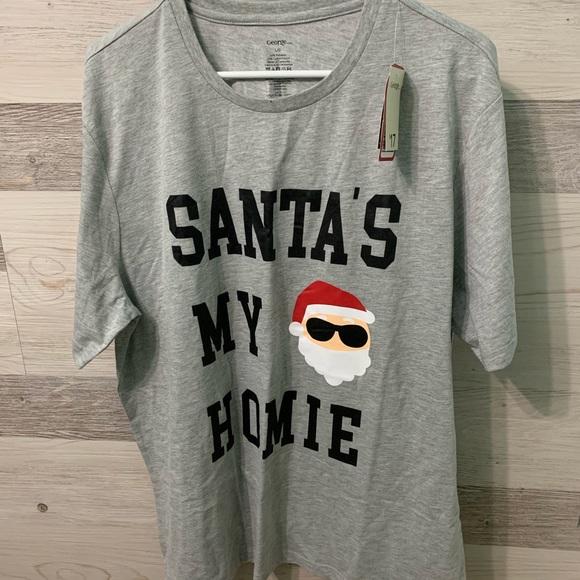 George Other - Santa's My Homie PJ set NWT